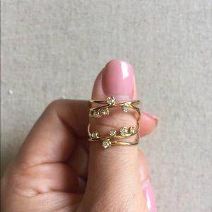 Stella & Dot Celestial Adjustable Gold Ring